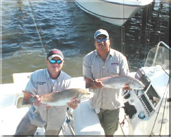 Double header redfish in the boat